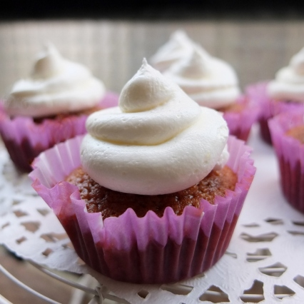 Jamaican ginger cupcakes with lemon swiss meringue buttercream frosting