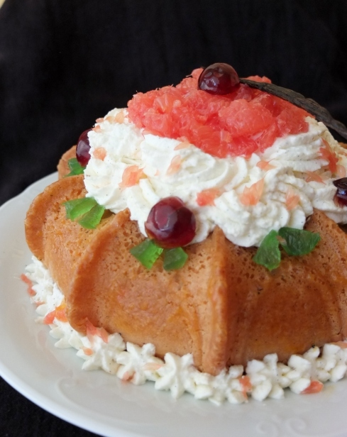 Pink grapefruit and kirsch savarin recipe, sugar-free!