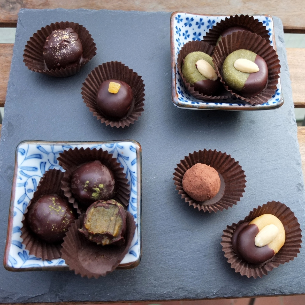 A variety of healthier marzipans and caramels