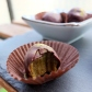 Chocolate-covered matcha date caramels