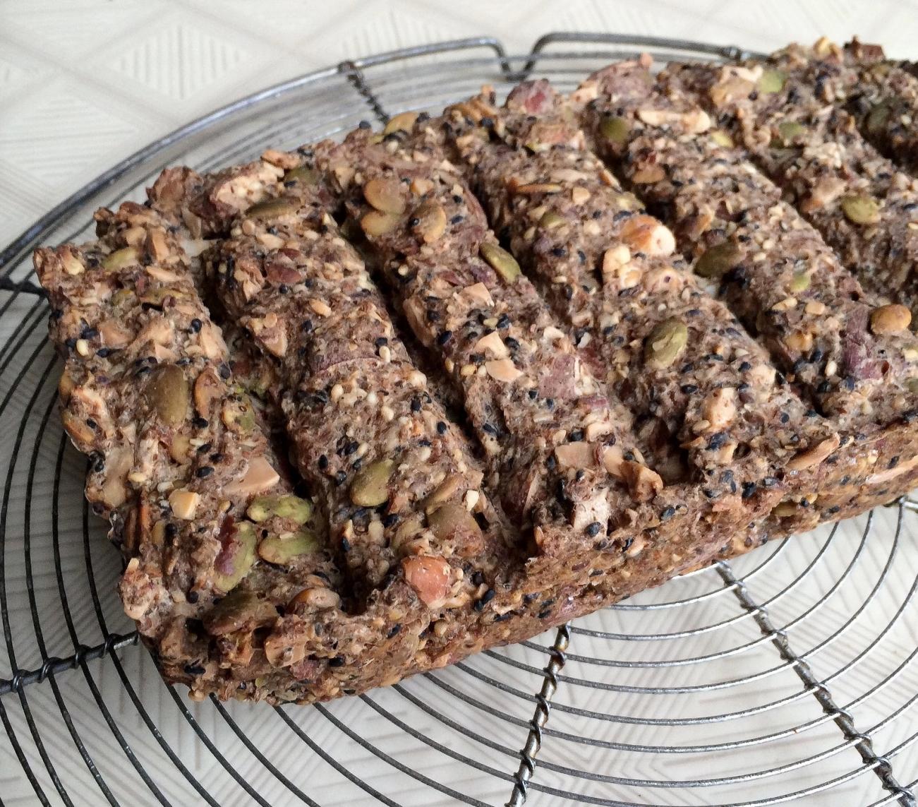 Beautiful seed and nut loaf made by Claudette