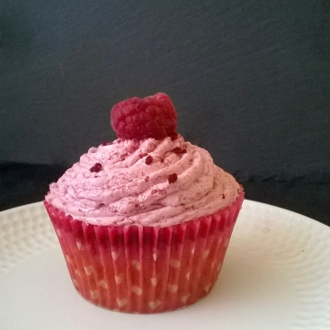 Ispahan raspberry, rose and lychee cupcakes