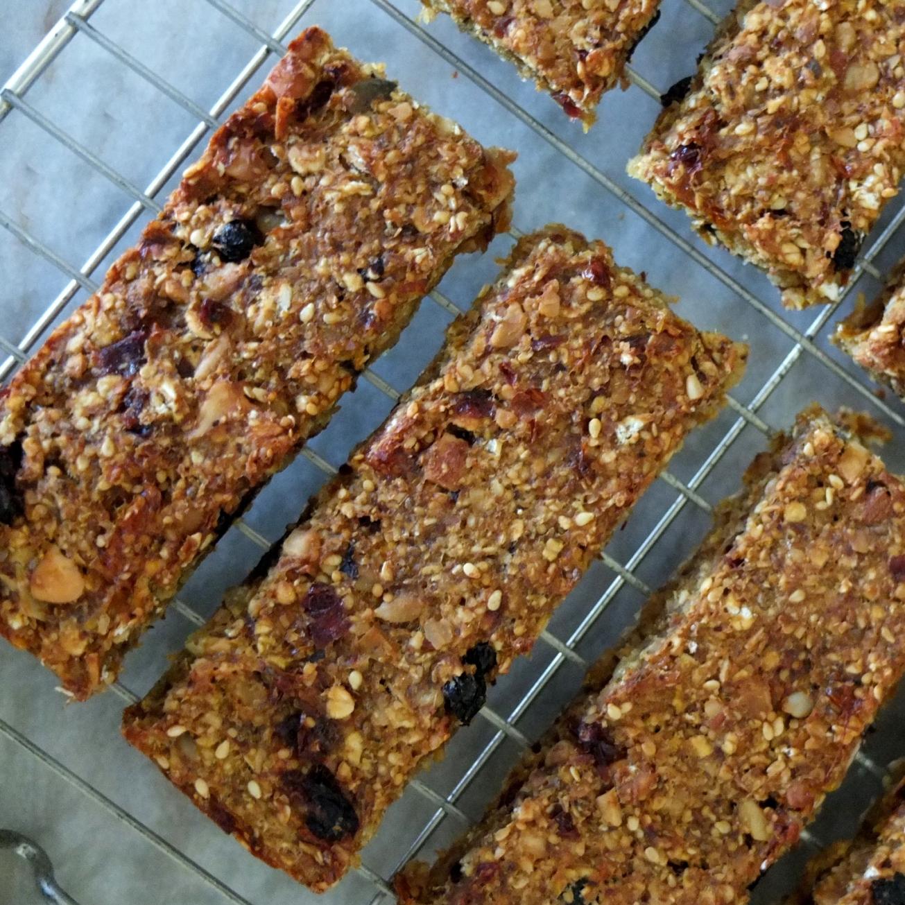 fruit, nut and seed porridge bars