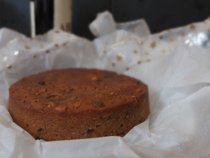 British Christmas Cake.Traditional British Christmas Fruitcake Recipe With Ginger