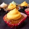 Sweet potato, cranberry and walnut cupcakes