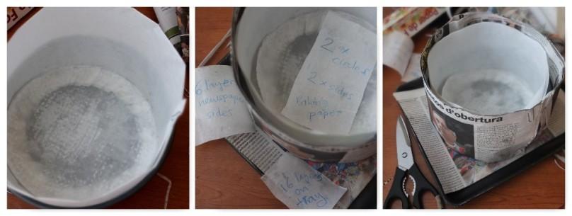 Lining a christmas cake tin2