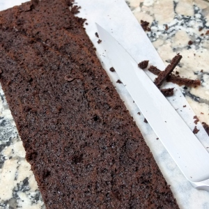 Chocolate cider sponge for Chocolate, chestnut and apple verrines
