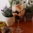 Chocolate, chestnut cream and spiced apple verrines