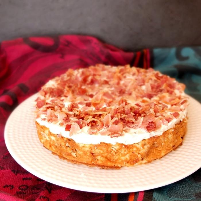 Bacon crumble cheesecake