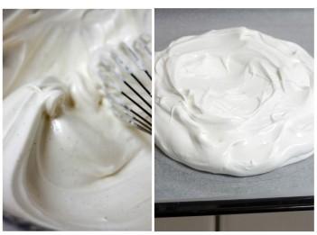 Pavlova meringue 2