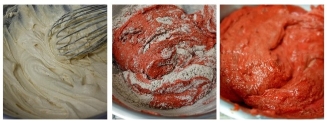 Pomegranate red velvet cake - making2