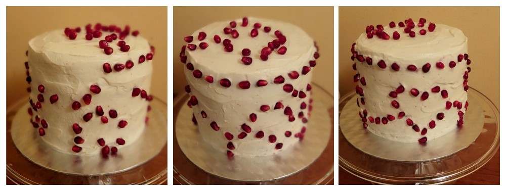Pomegranate red velvet cake - making4