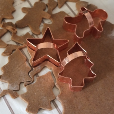 Making healthier spiced Christmas biscuits