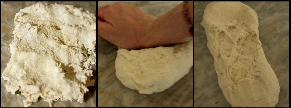 baozi - kneading the starter dough
