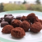 Dark chocolates - truffles and almond paste chocolates