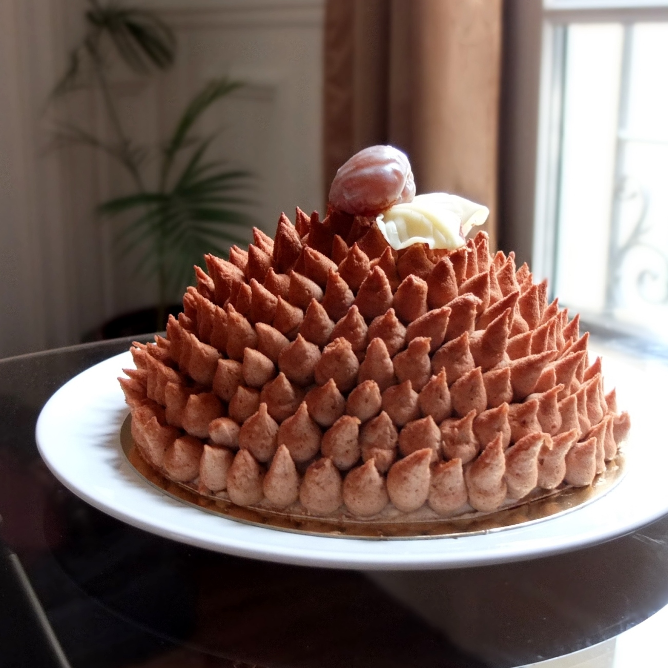 Chestnut hedgehog cake