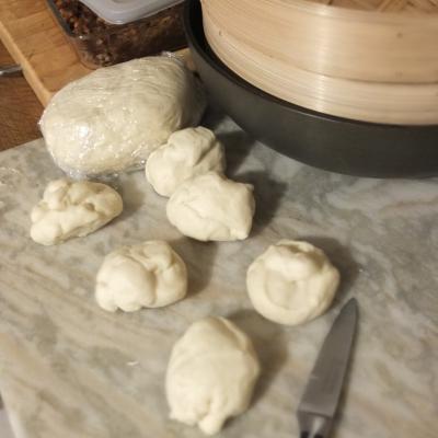 Final wrapper dough for char siu bao