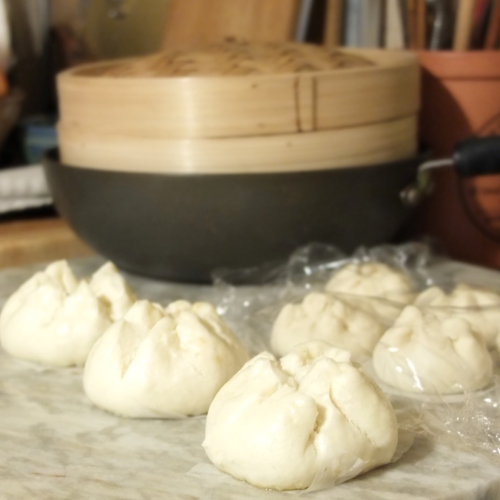 Char siu bao - steamed barbecue pork buns