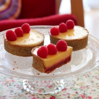 Passionfruit or St Clement's raspberry tarts with gluten-free, sugar-free options
