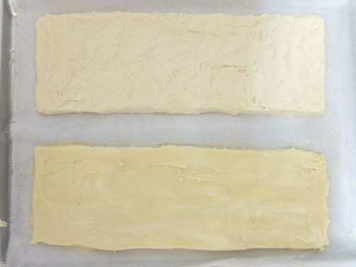 Inverted puff pastry - rectangle layers