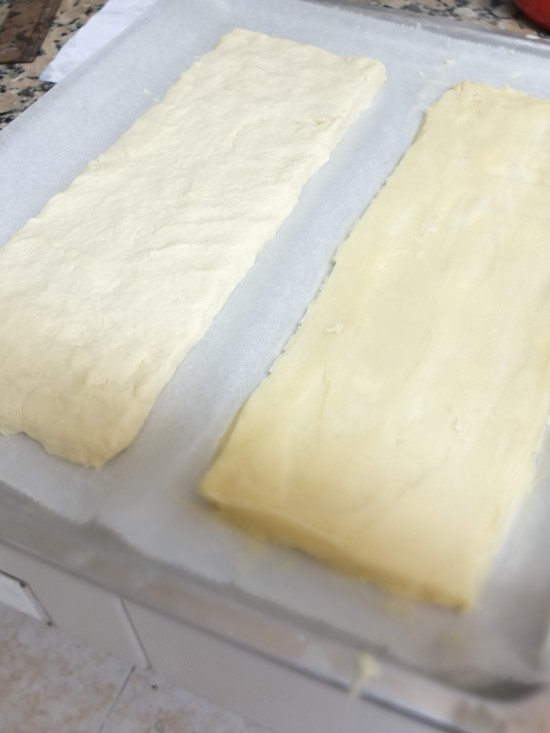 two layers - inverted puff pastry