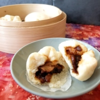 Char siu bao - steamed barbecue pork buns recipe!  And what's dim sum?