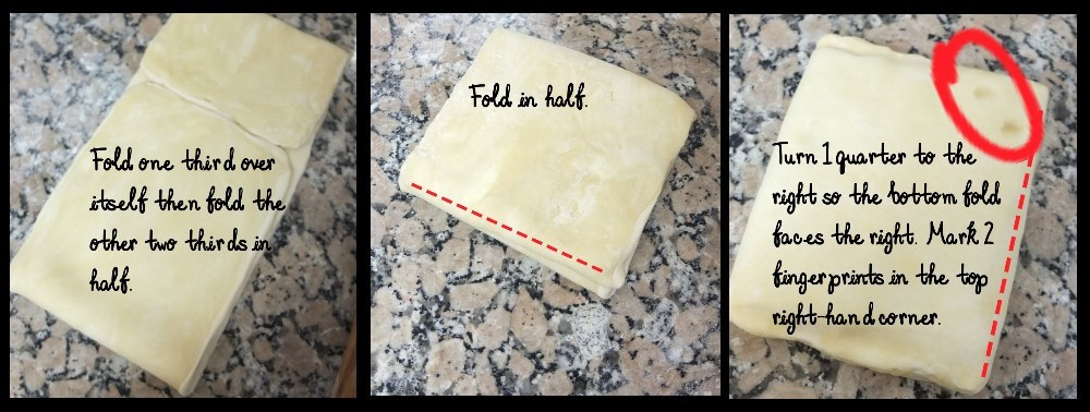 Second double turn - inverted puff pastry