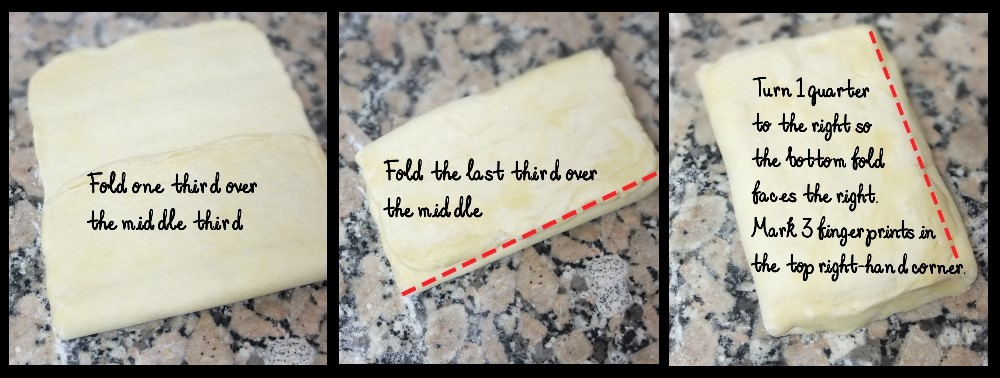 Third simple turn - inverted puff pastry