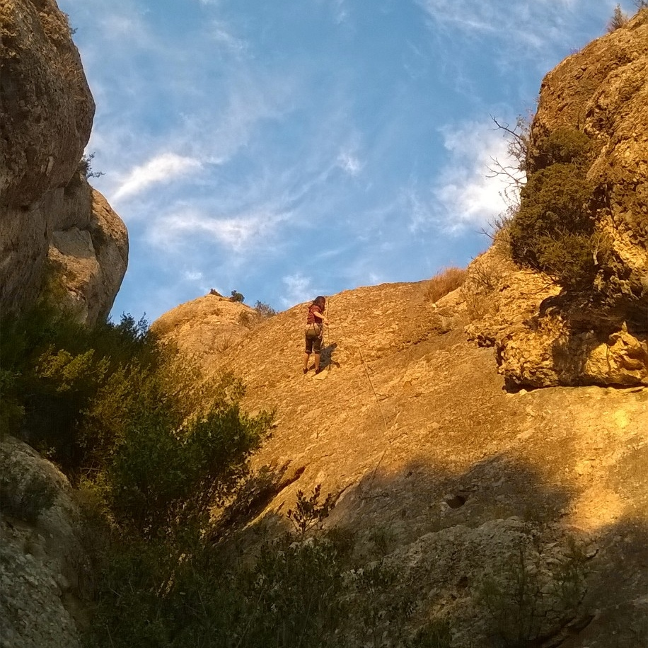 Climbing in Montserrat, Collbató