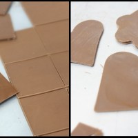 Making thin decorative shapes with tempered chocolate