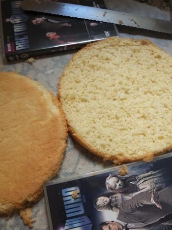 Xylitol sugar-free genoise sponge