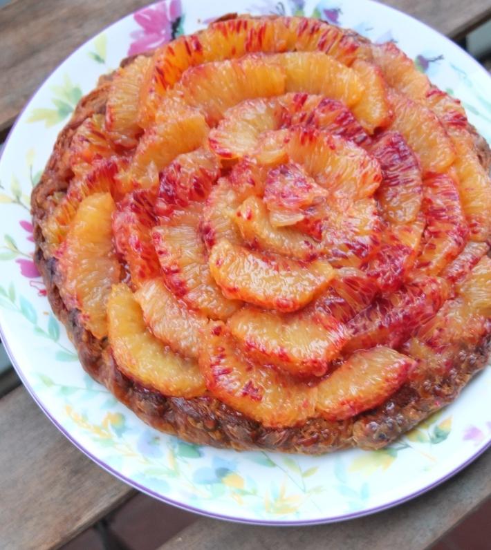 Easy blood orange frangipane tart