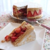 Healthier Fraisier (strawberry cake)