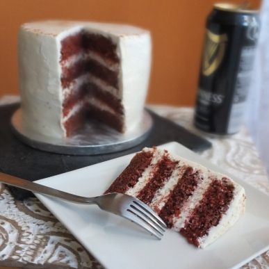 Guinness red velvet cake