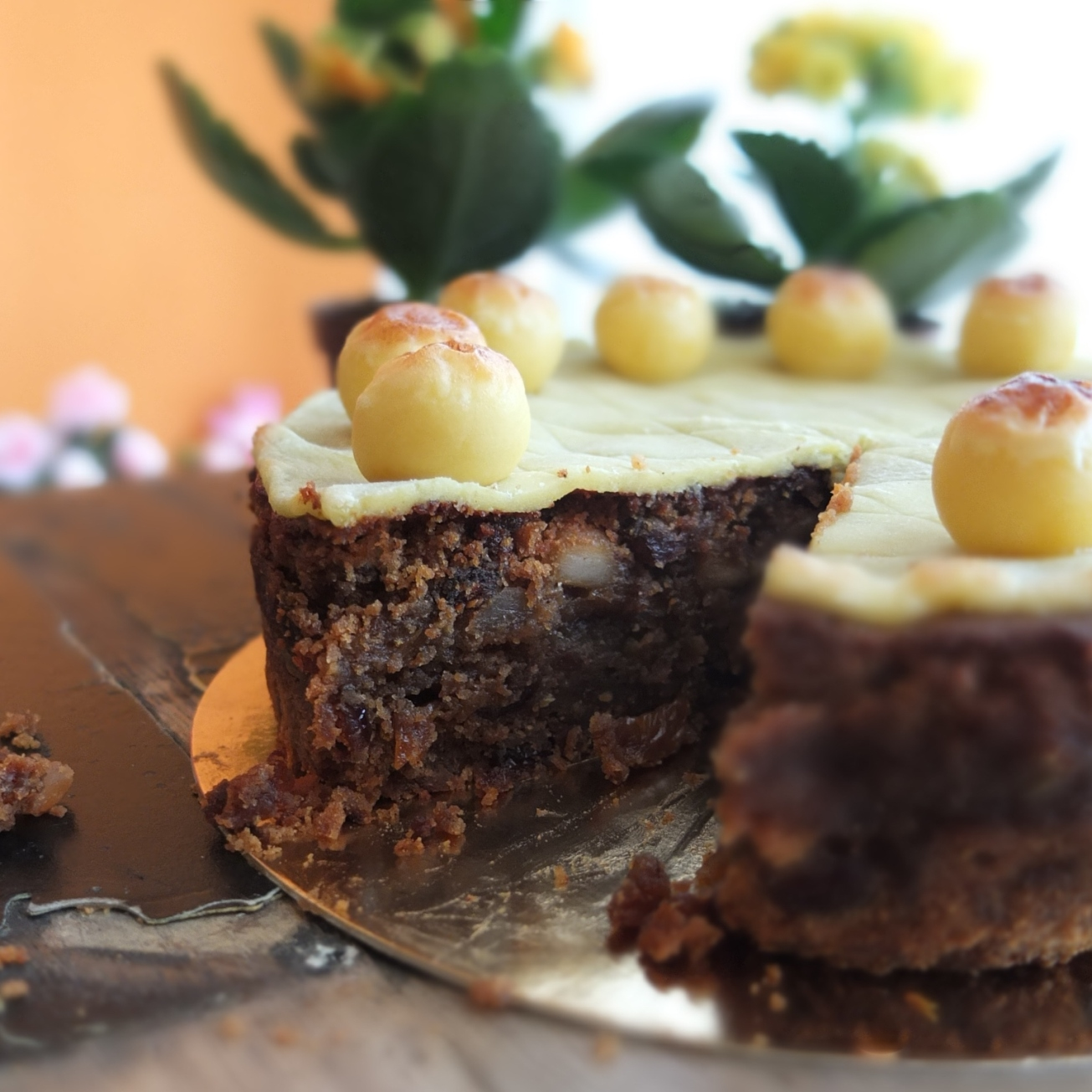 Tropical Easter Simnel cake with Guinness