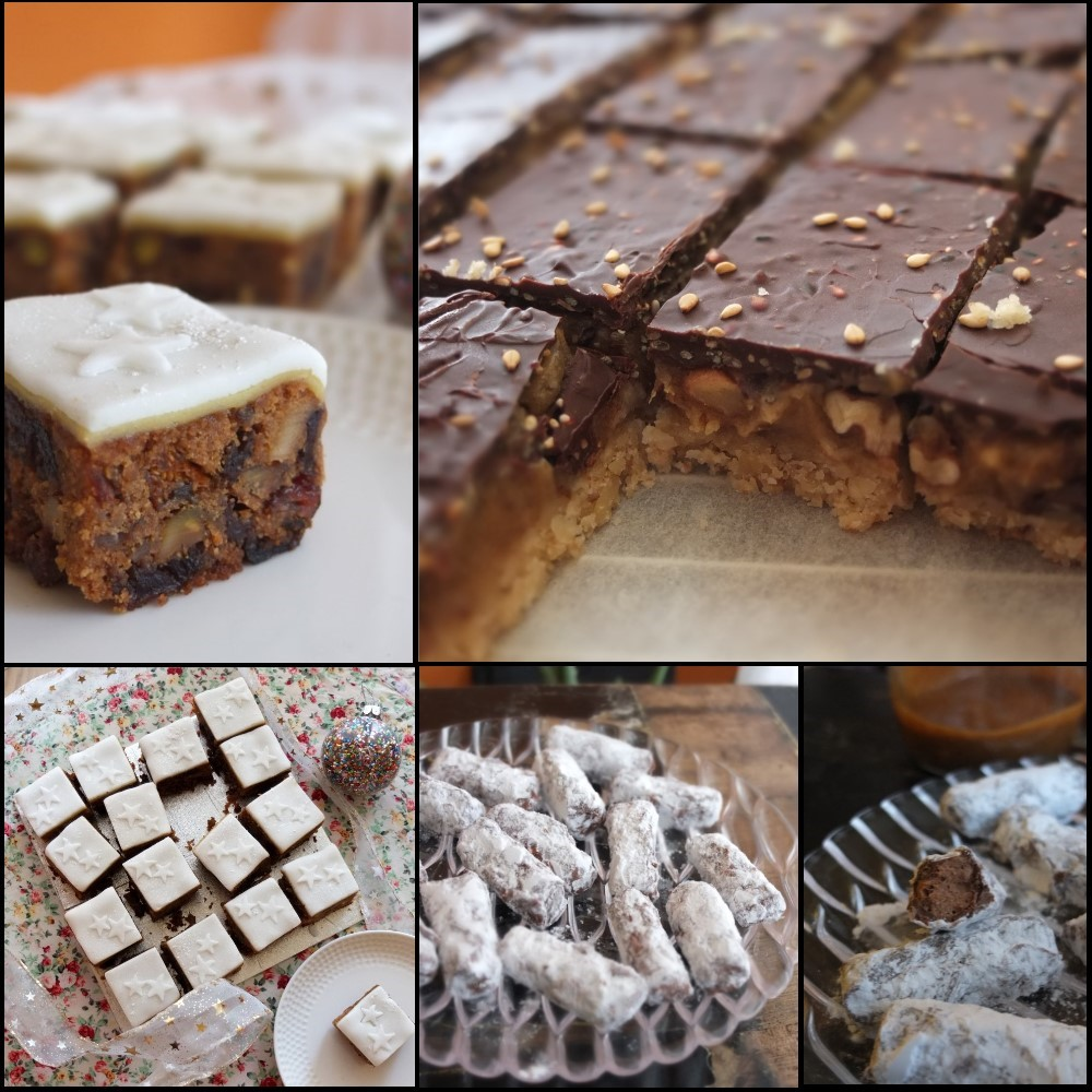 chocolates and christmas squares