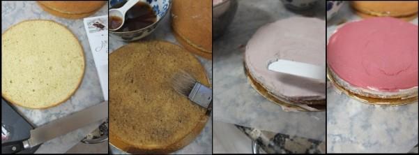 Assembling the chai cake 1