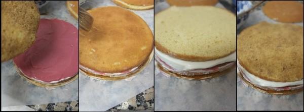Assembling the chai cake 2