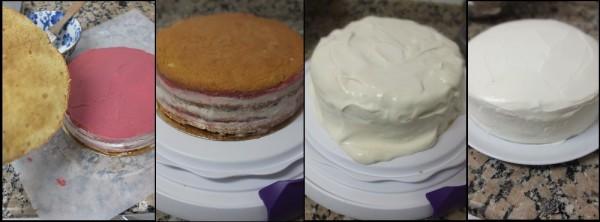 Assembling the chai cake 3