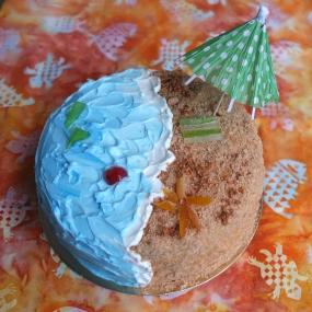 Red velvet beach cake