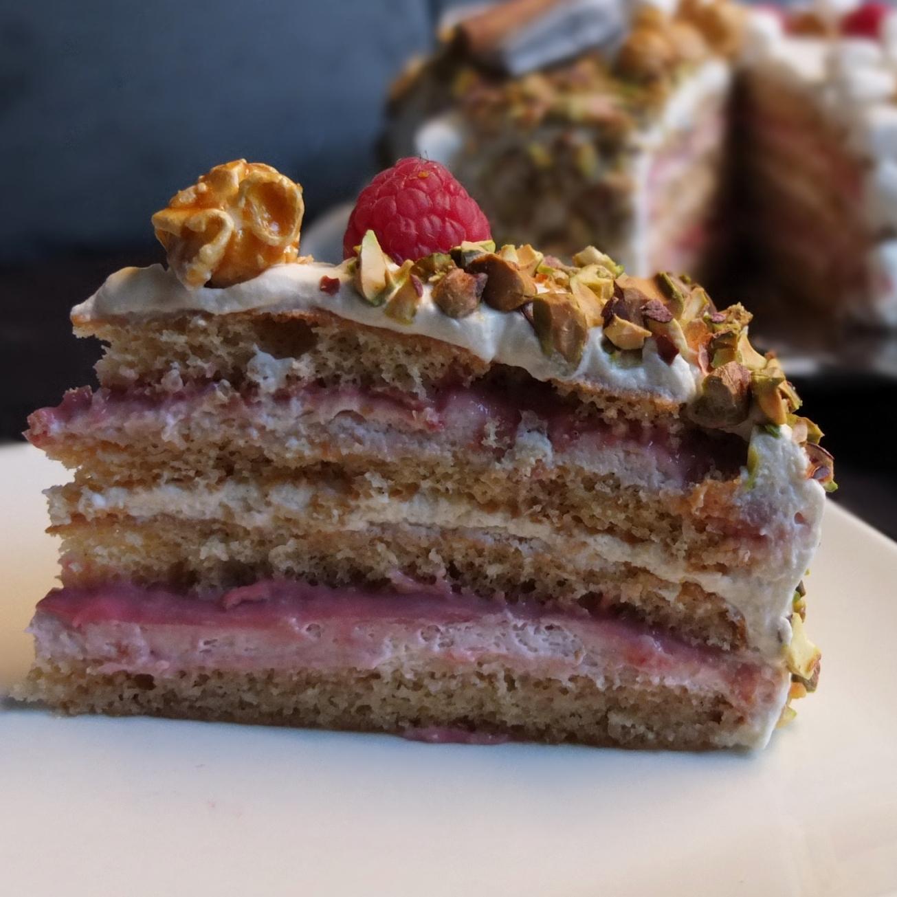 Raspberry Pistachio Teacakes Recipe — Dishmaps