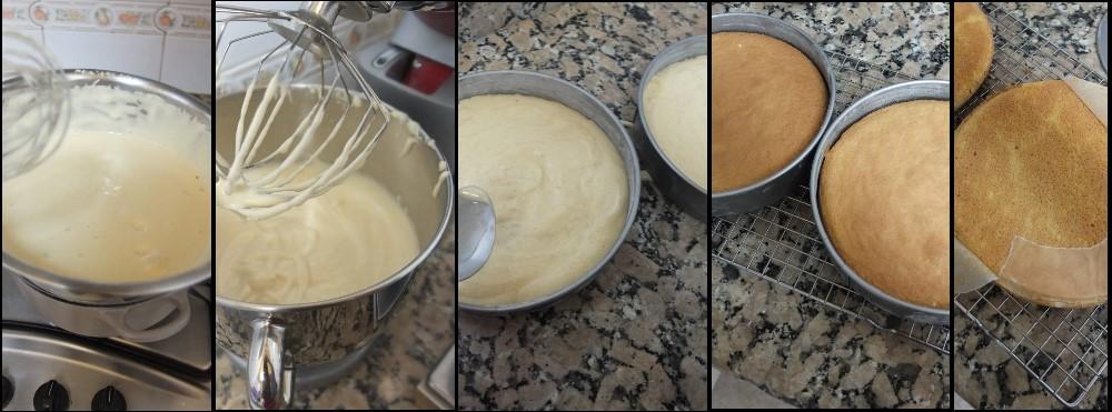Masala chai, raspberry and pistachio layer cake - genoise sponge