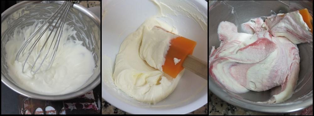 Masala chai, raspberry and pistachio layer cake - raspberry cream