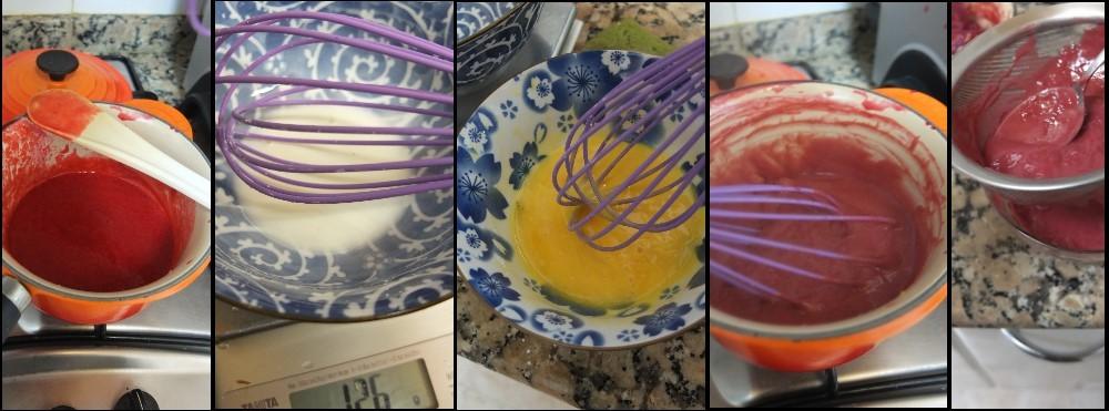 Masala chai, raspberry and pistachio layer cake - raspberry curd