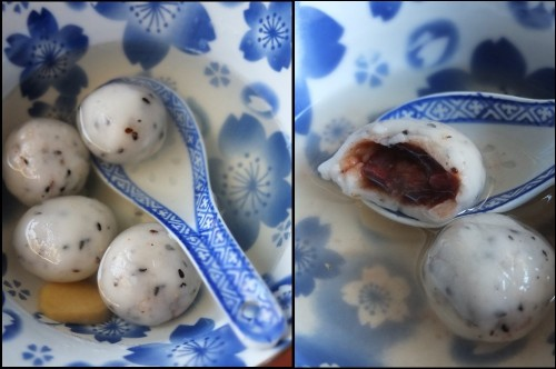 red bean dumplings