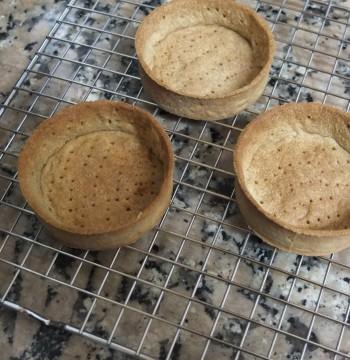 Buckwheat pastry tart cases