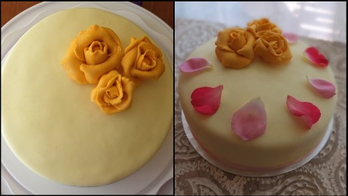 lemon drizzle cake decoration
