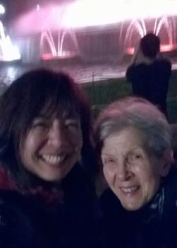 Mum and me at the magic fountains