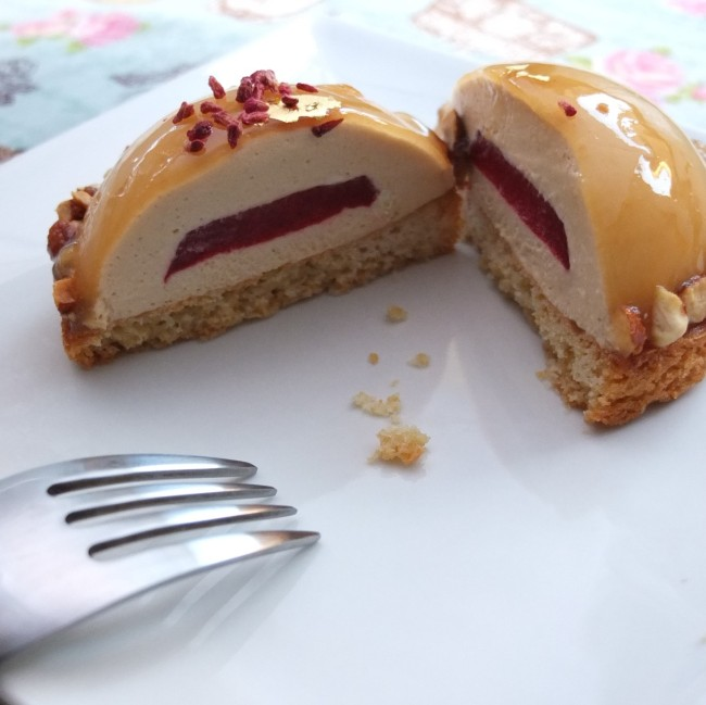 Caramel-raspberry dome cakes - Dreams of Florence