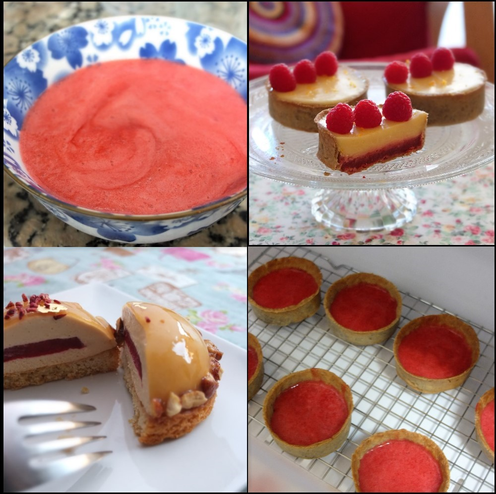Raspberry jelly insert or layer recipe